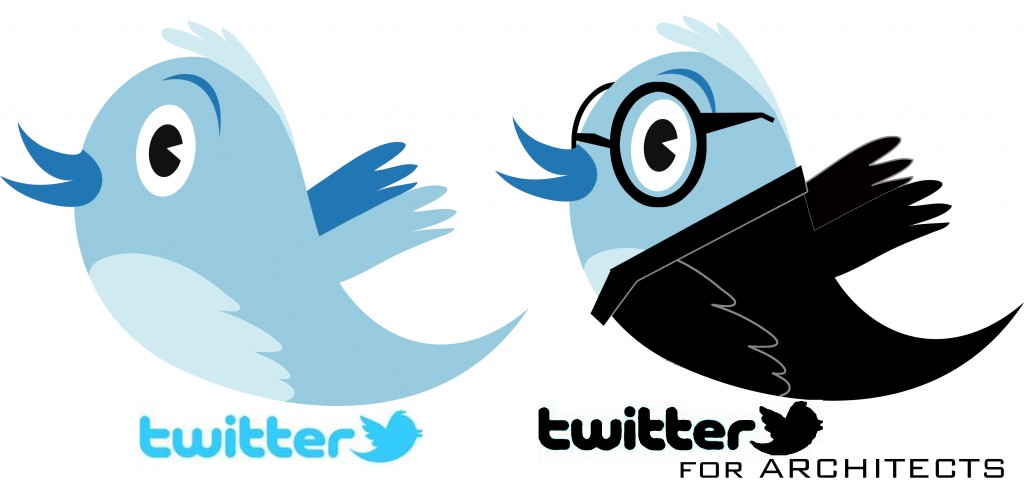 Twitter logo modified for Architects