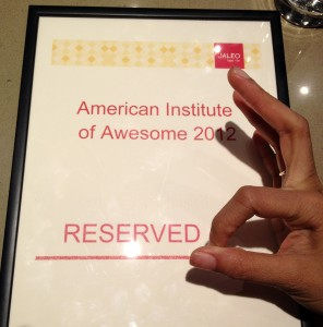 Reserved: American Institute of Awesome!