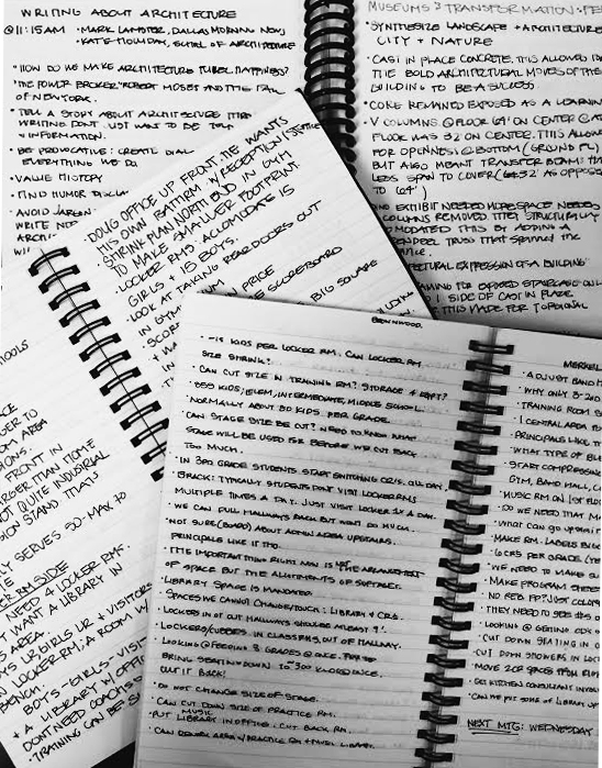 Notes, notes and more notes.