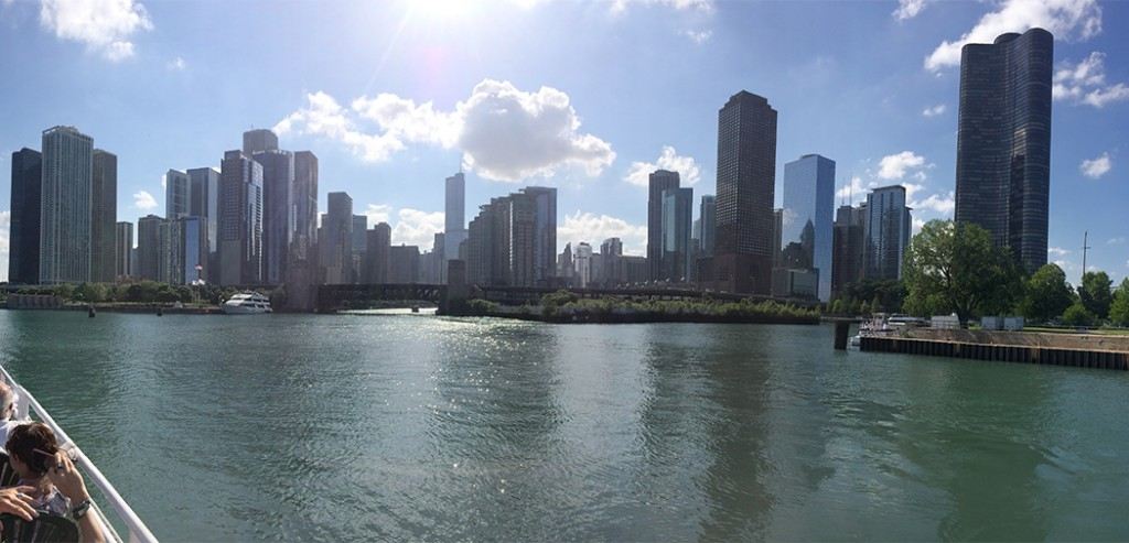 Chicago Skyline from a Boat!! One of Many Great Tours!