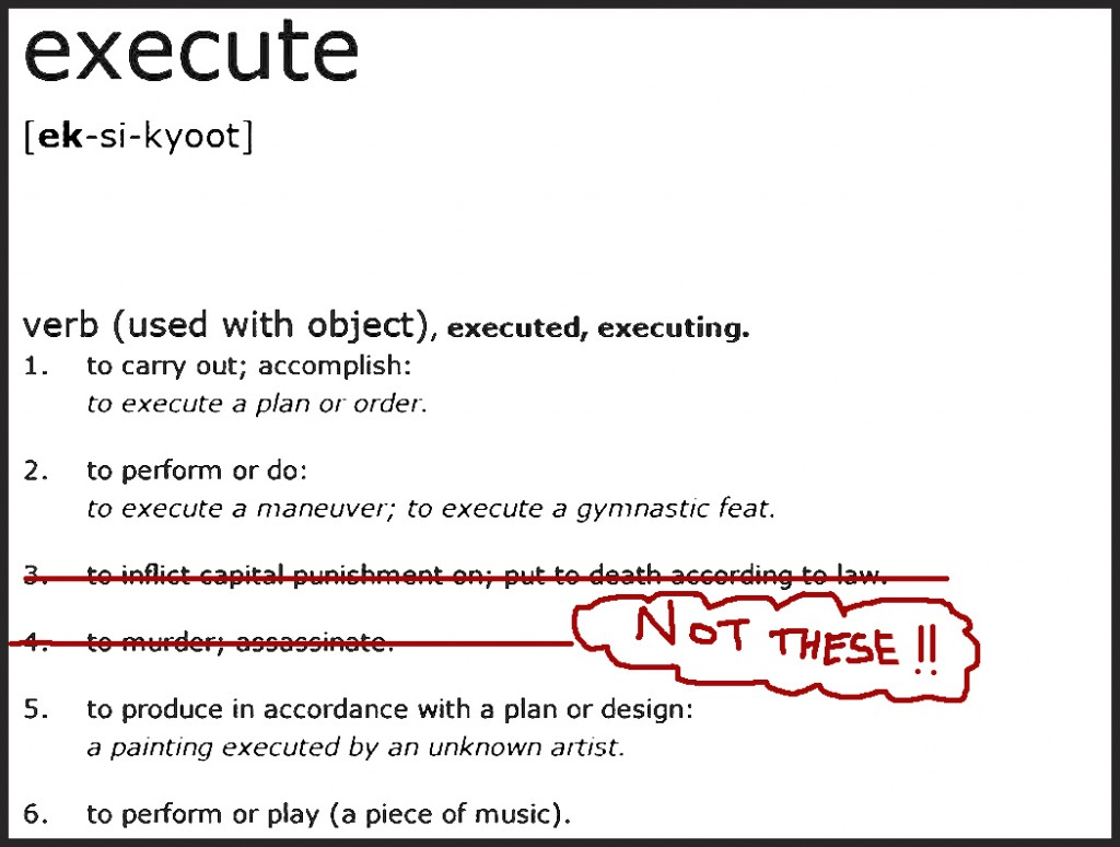 EXECUTE Definition